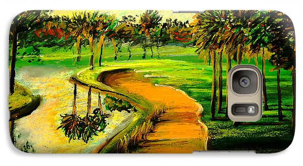 Galaxy Case featuring the painting Let's Play Golf by Patricia L Davidson
