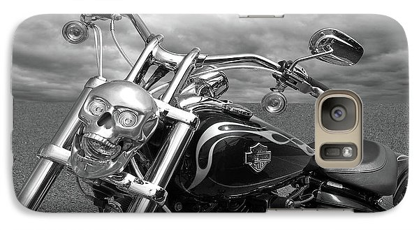 Galaxy Case featuring the photograph Let's Ride - Harley Davidson Motorcycle by Gill Billington