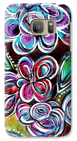 Galaxy Case featuring the painting Letting Loose by Julie  Hoyle