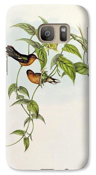 Lovebird Galaxy S7 Case - Leucippus Fallax by John Gould