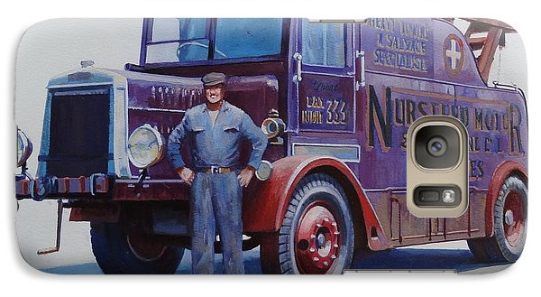 Galaxy Case featuring the painting Leyland Wrecker 1930. by Mike  Jeffries