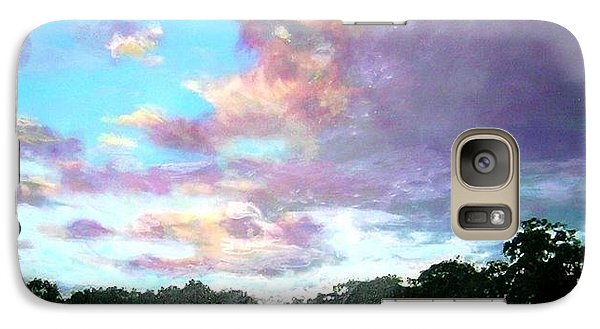 Galaxy Case featuring the painting L'heure Mauve by Marie-Line Vasseur