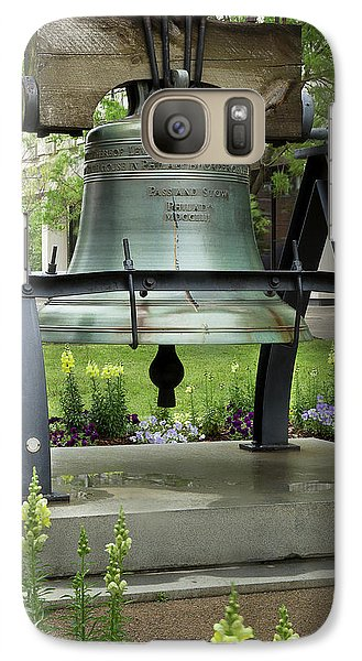 Galaxy Case featuring the photograph Liberty Bell Replica by Mike Eingle