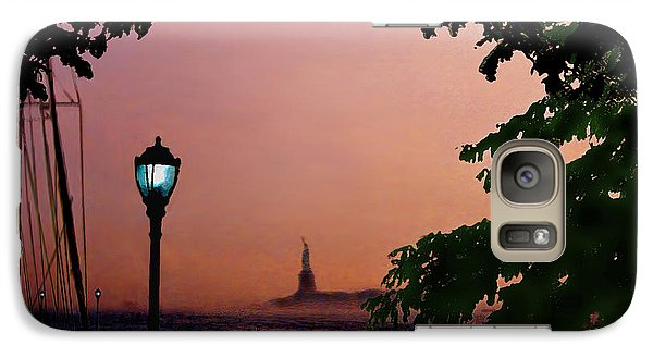 Galaxy Case featuring the digital art Liberty Fading Seascape by Steve Karol