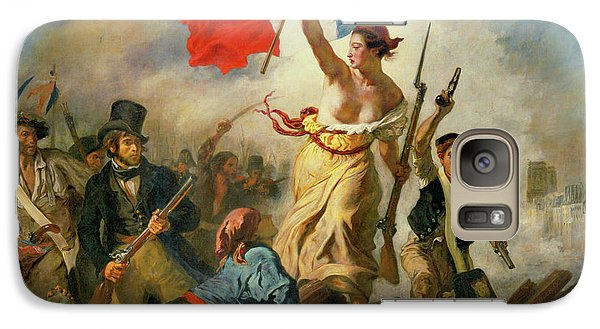 Galaxy Case featuring the painting Liberty Leading The People By Eugene Delacroix 1830 by Movie Poster Prints