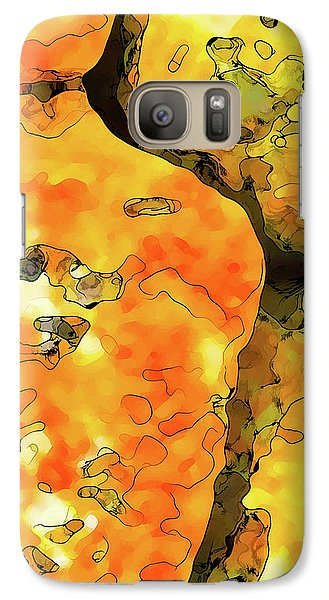 Galaxy Case featuring the digital art Lichen Abstract 1 by ABeautifulSky Photography