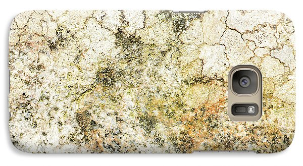 Galaxy Case featuring the photograph Lichen On A Stone, Background by Torbjorn Swenelius