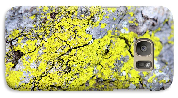 Galaxy S7 Case featuring the photograph Lichen Pattern by Christina Rollo