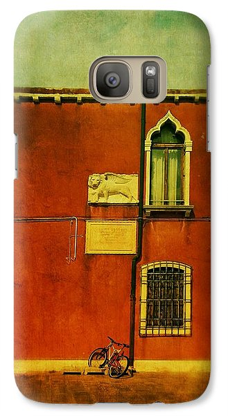 Galaxy Case featuring the photograph Lido Lion by Anne Kotan