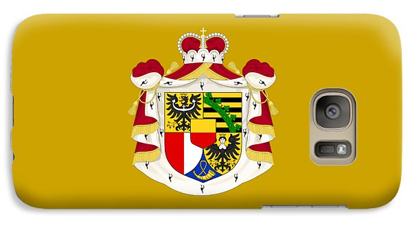 Galaxy Case featuring the drawing Liechtenstein Coat Of Arms by Movie Poster Prints