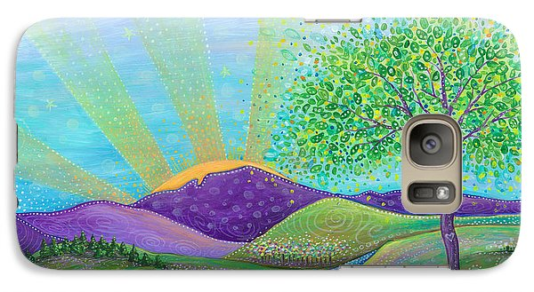 Galaxy Case featuring the painting Love And Life by Tanielle Childers