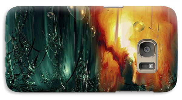 Galaxy Case featuring the digital art Life Form Ends by Linda Sannuti
