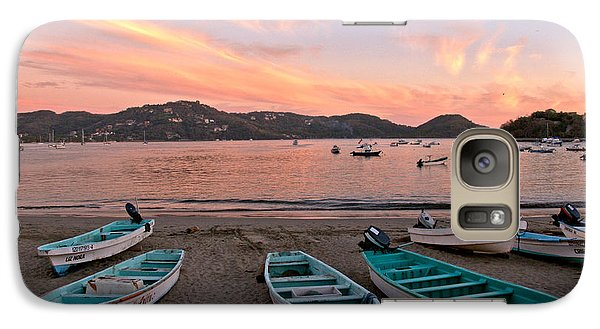 Galaxy Case featuring the photograph Life In A Fishing Village by Jim Walls PhotoArtist