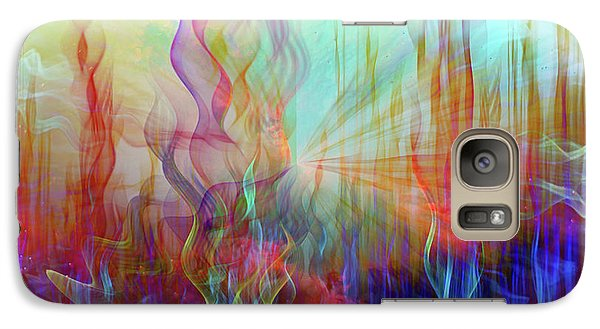 Galaxy Case featuring the digital art Life Is A Beautiful Mystery by Linda Sannuti