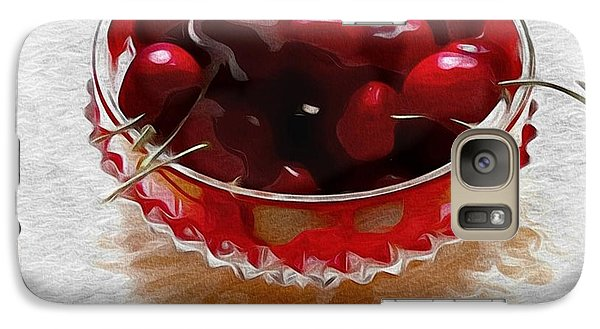 Galaxy Case featuring the digital art Life Is A Bowl Of Cherries by Alexis Rotella