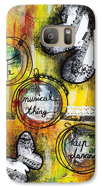 Galaxy Case featuring the mixed media Life Is A Musical Thing by Stanka Vukelic