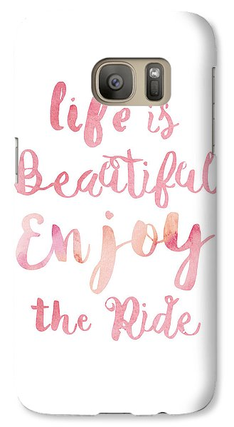 Galaxy Case featuring the digital art Life Is Beautiful by Mike Taylor