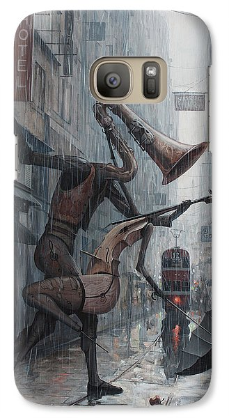Saxophone Galaxy S7 Case - Life Is  Dance In The Rain by Adrian Borda