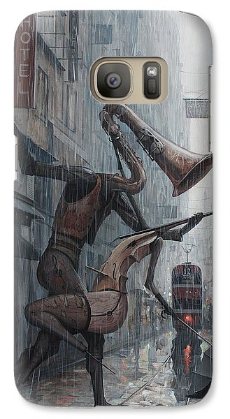 Violin Galaxy S7 Case - Life Is  Dance In The Rain by Adrian Borda