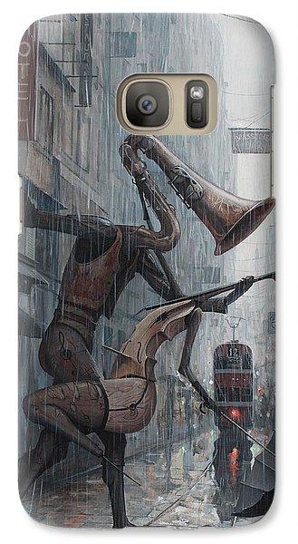 Life Is  Dance In The Rain Galaxy S7 Case by Adrian Borda
