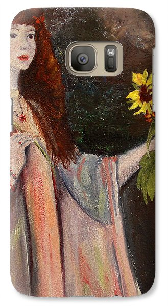 Galaxy Case featuring the painting Life Is Fragile Handle With Flowers by Jane Autry