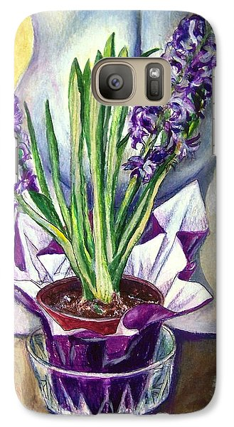 Galaxy Case featuring the drawing Life Spring by Laura Aceto