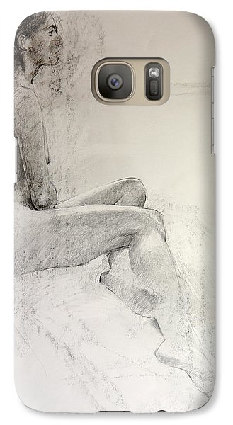 Galaxy Case featuring the drawing Life Study by Harry Robertson