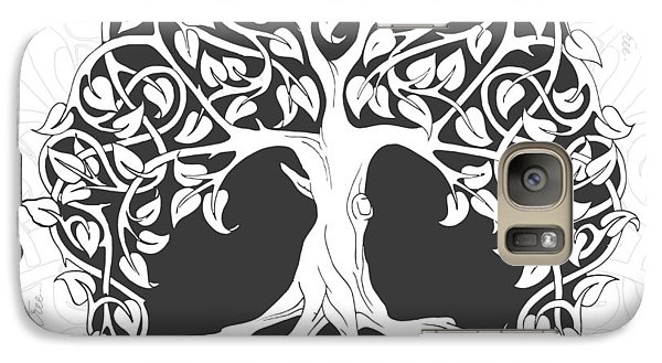 Galaxy Case featuring the digital art Life Tree. Life Is Like A Tree by Gina Dsgn
