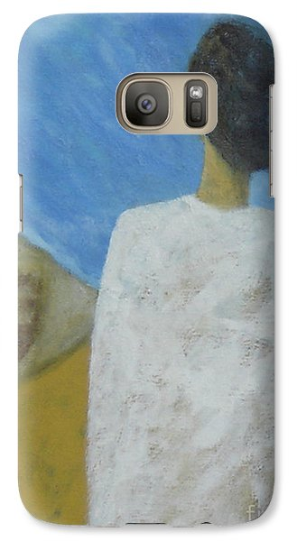 Galaxy Case featuring the painting Lifeboat by Glenn Quist