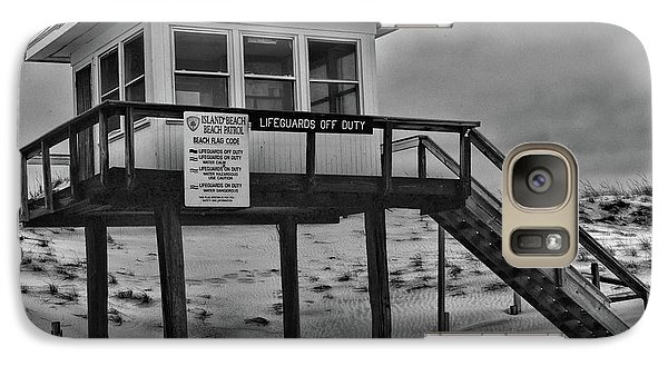 Galaxy Case featuring the photograph Lifeguard Station 1 In Black And White by Paul Ward
