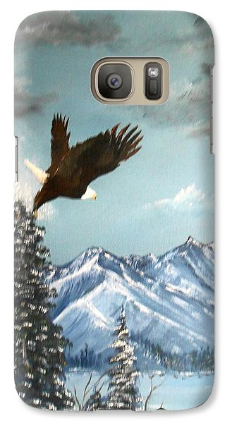 Galaxy Case featuring the painting Lift Off by Al  Johannessen