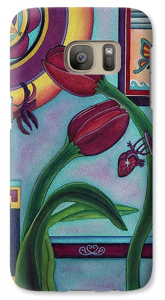 Galaxy Case featuring the painting Lifting And Loving Each Other by Lori Miller