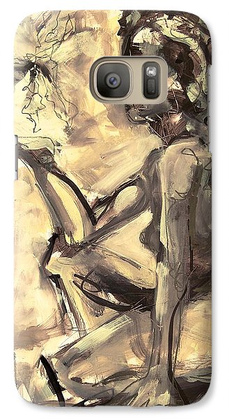 Galaxy Case featuring the painting Light And Shadow by Mary Schiros