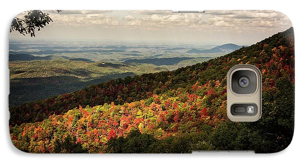 Galaxy Case featuring the photograph Light And Shadow On Tennessee Mountains by Chrystal Mimbs