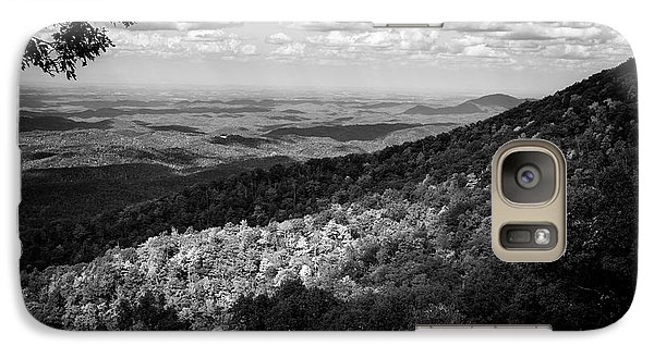 Galaxy Case featuring the photograph Light And Shadow On Tennessee Mountains In Black And White by Chrystal Mimbs