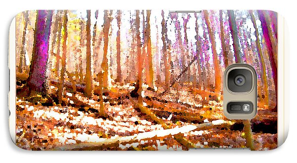 Galaxy Case featuring the photograph Light Between The Trees by Felipe Adan Lerma
