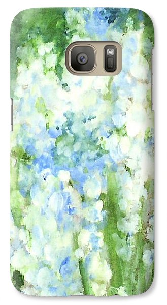 Galaxy Case featuring the painting Light Blue Grape Hyacinth. by Laurie Rohner