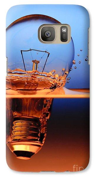 Galaxy Case featuring the photograph Light Bulb And Splash Water by Setsiri Silapasuwanchai