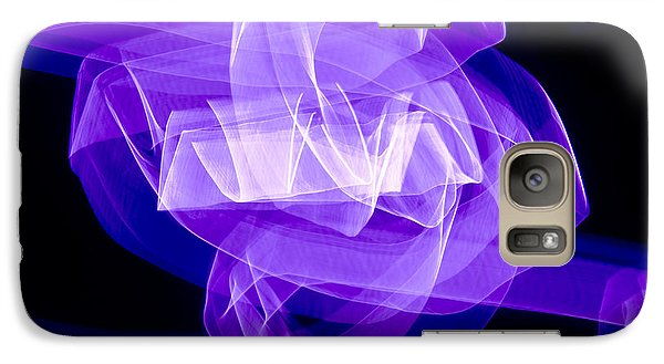 Galaxy Case featuring the photograph Light Bulb Purple by Kevin Blackburn