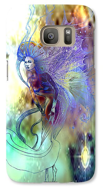 Galaxy Case featuring the painting Light Dancer by Ragen Mendenhall