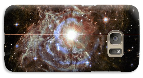 Galaxy Case featuring the photograph Light Echoes by Marco Oliveira