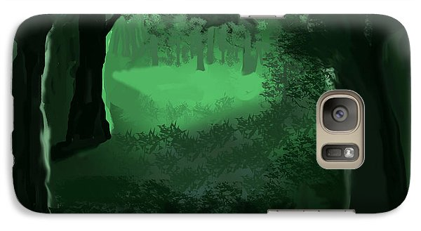 Galaxy Case featuring the digital art Light In The Forest by Walter Chamberlain