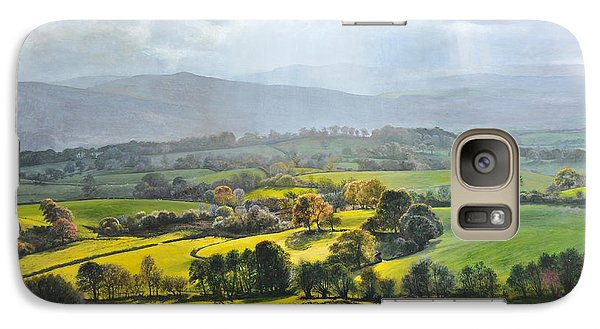 Galaxy Case featuring the painting Light In The Valley At Rhug. by Harry Robertson