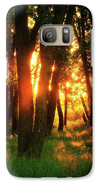 Galaxy Case featuring the photograph Light Of The Forest by John De Bord