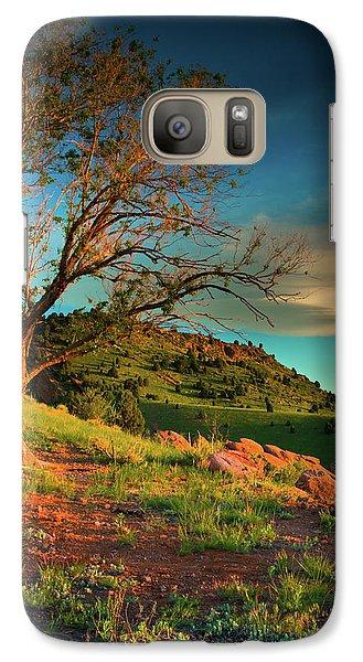 Galaxy Case featuring the photograph Light Of The Hillside by John De Bord