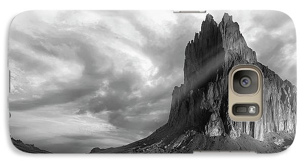 Galaxy Case featuring the photograph Light On Shiprock by Jon Glaser