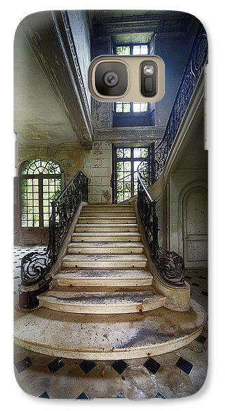 Galaxy Case featuring the photograph Light On The Stairs - Abandoned Castle by Dirk Ercken