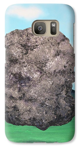 Galaxy Case featuring the painting Light Rock by Thomas Blood
