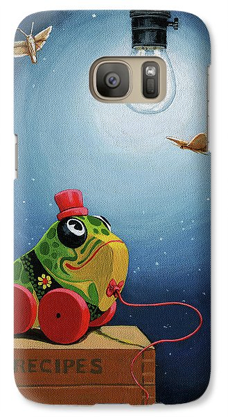 Galaxy Case featuring the painting Light Snacks Original Whimsical Still Life by Linda Apple