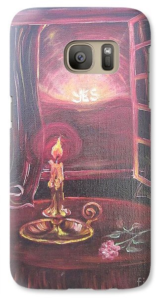 Galaxy Case featuring the painting Light The Yes Candle by Sigrid Tune